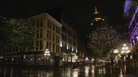 Gastown Rainy Night Vancouver stock footage