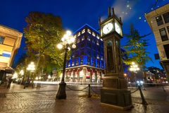 Gastown, Vancouver, Canada. This image shows touristy Gastown in Vancouver, Canada Royalty Free Stock Photos
