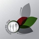 Gastrónomo del italiano del menú del restaurante Imagenes de archivo