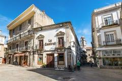 Gastro La中央餐馆在比戈,蓬特韦德拉,西班牙 免版税图库摄影