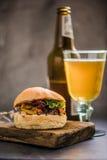 Gastro pub local food, bbq burger Stock Photography
