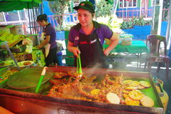 Gastronomic festival in Juayua Royalty Free Stock Photos