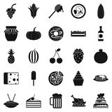 Gastronomic pleasure icons set, simple style Royalty Free Stock Photography