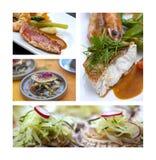 Gastronomie avec des poissons photo stock