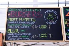 Gastronomie bij het Correcte 2013 Festival van Heineken Primavera Stock Afbeelding