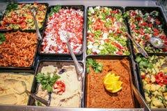 Gastronomiesalate stockfotos