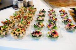 Gastronomisch cateringsvoedsel stock fotografie