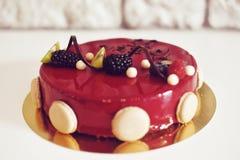 Gastronomisch chocoladedessert in een restaurant, koffie Het koken, een boek van desserts, snoepjes stock foto's