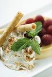Gastronomisch dessert. stock foto