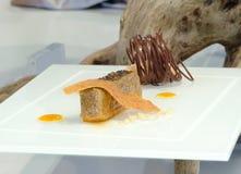 Gastronomisch dessert royalty-vrije stock afbeeldingen