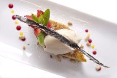 Gastronomisch dessert Stock Fotografie