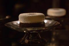 Gastronomisch dessert in een restaurant, luxueus partijvoedsel stock afbeeldingen