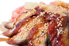 Gastronomisch diner, close-up Royalty-vrije Stock Afbeeldingen