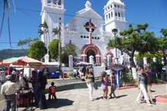 Gastronomisch festival in Juayua stock foto's