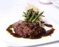 Gastronomisch filet mignon lapje vlees Royalty-vrije Stock Afbeelding