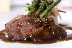 Gastronomisch filet mignon lapje vlees stock fotografie