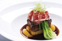 Gastronomisch maaltijdstilleven. Royalty-vrije Stock Afbeeldingen