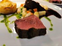 Gastronomisch organisch vers voedsel royalty-vrije stock afbeeldingen