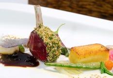 Gastronomisch rek van lam Stock Foto's