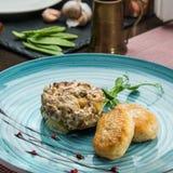 Gastronomisch restaurantvoedsel royalty-vrije stock foto's