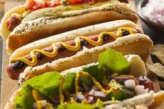 Gastronomisch roosterde Alle Honden van Rundvleeshots stock fotografie