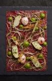 Gastronomisch Rundvlees tartare royalty-vrije stock fotografie