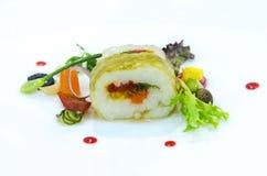Gastronomisch vegetarisch broodje stock afbeeldingen