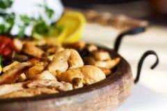 Gastronomisch voedsel stock afbeeldingen