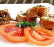 Gastronomisch voedsel stock afbeelding