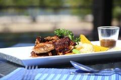 Gastronomisch voedsel stock fotografie