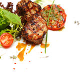 Gastronomisch voedsel - lapje vleesvlees stock fotografie