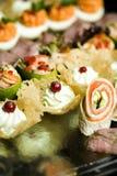 Gastronomisch voedsel voor partijen royalty-vrije stock afbeeldingen