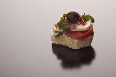 Gastronomisch voorgerecht met feta Royalty-vrije Stock Afbeeldingen