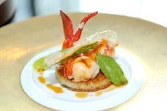 Gastronomisch zeekreeftdiner royalty-vrije stock foto