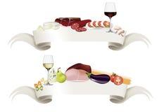 Gastronomische Banner Stock Afbeeldingen