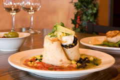 Gastronomische burrito Stock Afbeelding