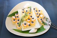 gastronomische cakessnoepjes Stock Fotografie