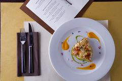 Gastronomische cursus royalty-vrije stock foto