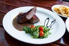 Gastronomische dinerplaat Royalty-vrije Stock Afbeeldingen