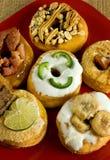 Gastronomische Doughnuts royalty-vrije stock afbeelding
