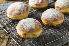 Gastronomische Eigengemaakte Poolse Paczki Donuts stock fotografie