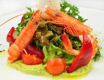 Gastronomische garnalensalade Stock Foto