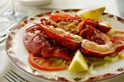 Gastronomische Geroosterde Zeekreeft Stock Foto's