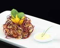 Gastronomische groentensalade stock foto