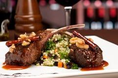 Gastronomische Lamskoteletten Royalty-vrije Stock Fotografie