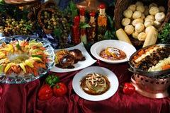 Gastronomische Lijst Stock Afbeeldingen