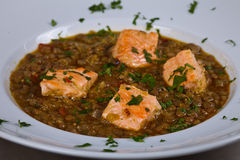Gastronomische maaltijd Royalty-vrije Stock Foto
