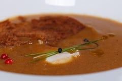 Gastronomische maaltijd Stock Foto
