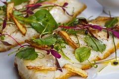 Gastronomische maaltijd Royalty-vrije Stock Foto's