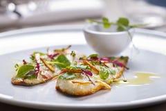 Gastronomische maaltijd Stock Foto's